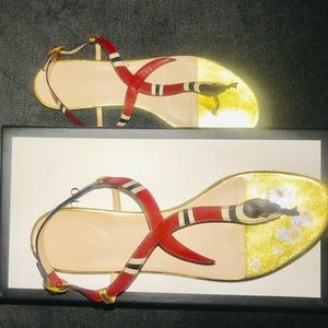 Gucci Shoes - Gucci Limited Edition Snake Flat Sandal